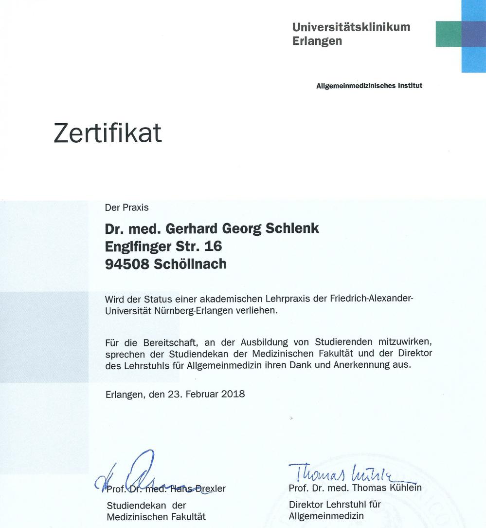 Zertifizierte Lehrpraxis